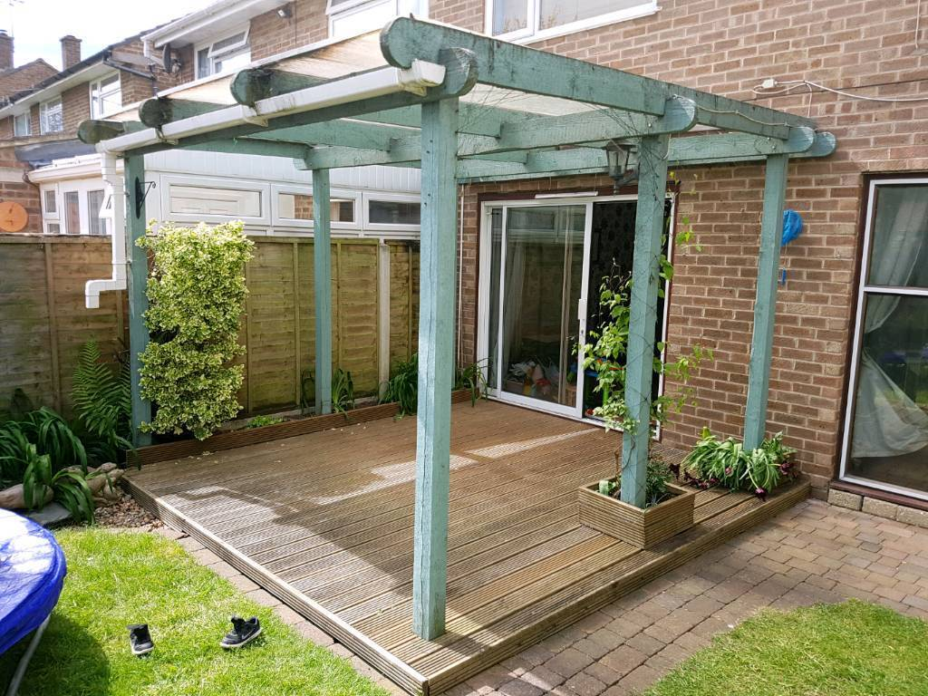 Lean to Pergola 3m x 3m (or log burner firewood) - Lean To Pergola 3m X 3m (or Log Burner Firewood) In Poole, Dorset
