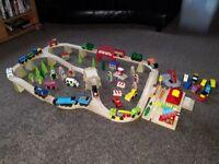 Bigjis Train Track Set/Trains/Vehicles/Etc
