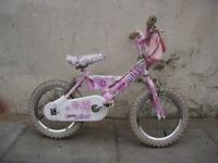 Kids Bike by Raleigh, Pink, Good Condition, 14 inch for Kids 4 Years, JUST SERVICED / CHEAP PRICE!!!