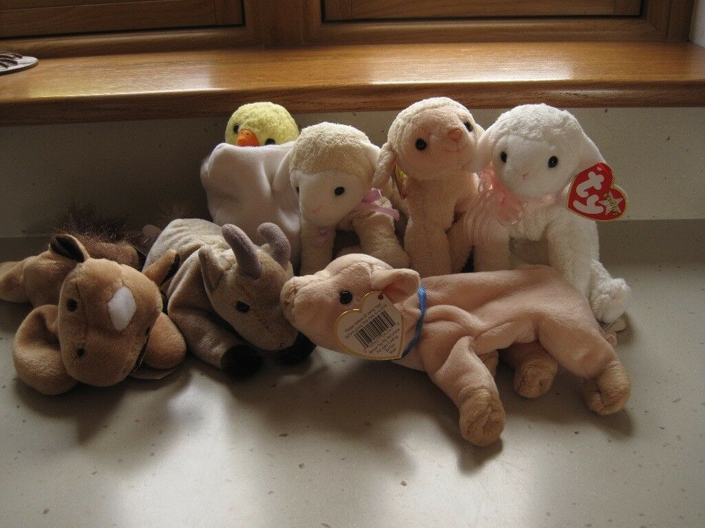 Ty Beanie Baby - collection of farm animals