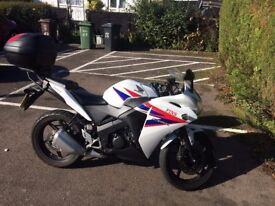 2012 Honda CBR 125R with top box, 2 mature owners, low mileage, L-plates if required