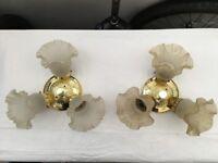 Used 3 bulb light fixtures