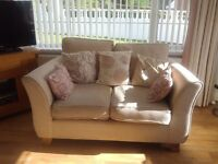 M&S sofas in natural chenille fabric. 1 large 2 seater and 1 small 2 seater.