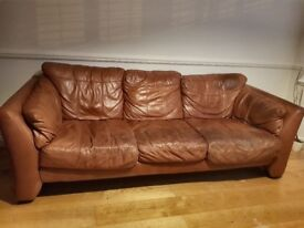 24 hr quick sale - beds and leather sofa