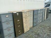 Retro vintage 4 drawer filing cabinet - large quantity