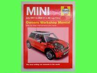 Haynes Mini Workshop Manual 2001 to 2005 (Y to 05 reg)