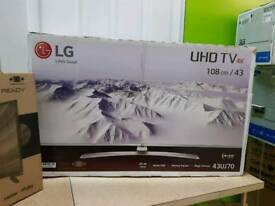 "LG 43"" 43UJ701V Smart 4k Ultra HD HDR LED Catch-up WebOS HDMI 2.0 × 3"