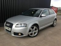 2007 (57) Audi A3 2.0 TDI S line 3dr Full Leather Heated Seats, 2 Keys, Finance Available, May PX