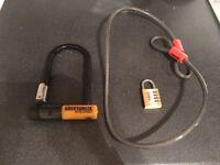 Bike Lock + Combination padlock
