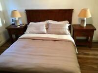 King size bed frame & 2 lamp tables