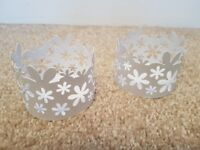 2 X Partylite blossom multi-use candle holder. Ex display item with boxes.
