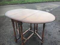 solid oak gateleg dining table