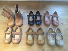 Bundle of little girls shoes/boots. 6 pairs. All from NEXT. Size 5. Worn but in good condition.