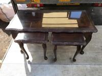 Fantastic Queen Anne vintage coffee table and nest of tables