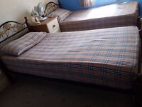 Checkered Burberry style bedding for twin beds. full sets including curtains
