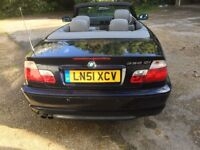 Bmw 330ci convertible, silver leather interior, new tyres, auto