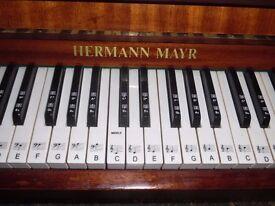 upright modern piano by hermann mayr