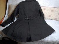 Welligogs Classic ladies wax coat.Black.Medium