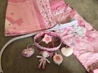 Baby girl cot bed set
