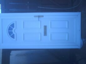 white upvc external door size h 84 in w 36 in