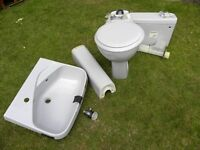 UNUSED IDEAL STANDARD TOILET AND SINK