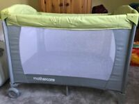 Mothercare travel cot in great condition with additional soft mattress included
