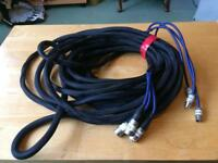 20 ft long Midi to XLR Cable Lead Loom 3 way Audio