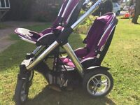 Oyster max single / double pushchair with buggy board