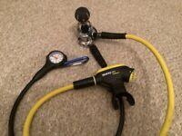 Diving equipment..Mares Abyss regulator set