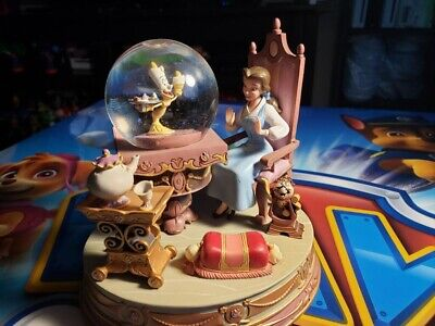 """Disney's Beauty & the Beast Snowglobe """"Be Our Guest"""" RARE - Good condition"""
