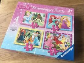4x Disney Princess Jigsaw Puzzle Ravensburger