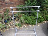 Adjustable Clothes Rail Ideal for Spare Bedroom or Boot Sale