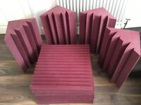 Auralex Bass trap and acoustic studio foam Burgundy