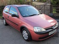 CORSA 1.0, GP.1 INSURANCE, V.LOW MILEAGE, 1 OWNER, NEW MOT, 60 MPG, ANY PART-EXCHANGE WELCOME