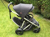 Phil and Ted 4 wheel VERVE Double Buggy + Accessories - Suitable from birth. VERY versatile seating.
