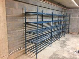 5 TIER HEAVY DUTY RACKING SHELVES. Free delivery!!!