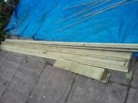 Feather Edge Board, Pressure Treated, Brand New, 15 lengths 2.9m x 100mm