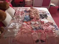 large newborn baby girl clothing bundle