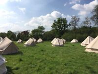 Luxury canvas 3m bell tents