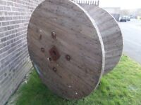 """LAST ONE HUGE 63"""" Cable Reel Drum Ideal as Tables"""