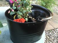 Lovely metal mop bucket with fuscia
