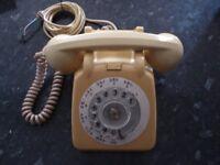 VINTAGE GPO ROTARY PHONE; model 7061