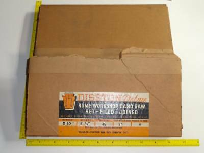 Disston Band Saw Blade Walker-turner D-80 Rare Vtg Nos Cabinetmaker 6ppi 8-58