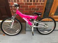 "Girls Raleigh Attitude Mountain Bike 24"" wheels"