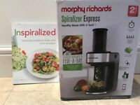 Morphy Richards Spiraliser [Brand New with cook book]