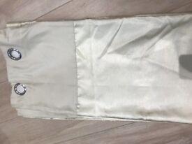 Cream curtains 168 x 182 cm