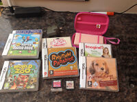 Nintendon DS (Pink) and 9 Games