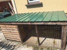 **Excellent condition Dog kennel and run for sale**
