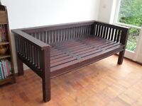 solid wooden day bed - single bed