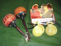A Set of Maracas and a Set of Clastenets - £5.00 each